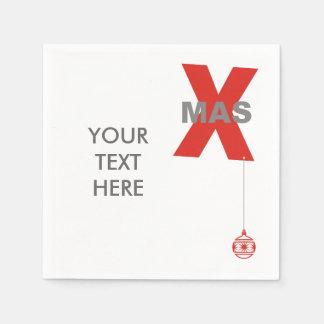 1 Weihnachten mit Weihnachtsbaum-Verzierung + Ihr Servietten
