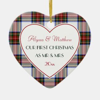 1. Weihnachten verheirateter Geschenk-Stewart Keramik Ornament