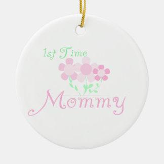 1. Zeit-Mama-Rosa-Blumen-Geschenke Keramik Ornament