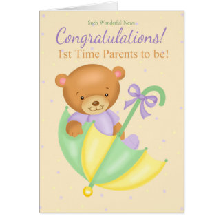 1. Zeit Parents Schwangerschafts-Glückwunsch-Karte Grußkarte