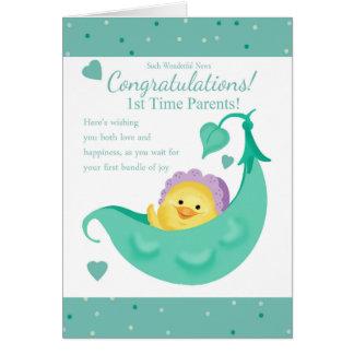1. Zeit Parents Schwangerschafts-Gruß-Karte Grußkarte