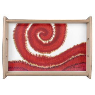 1st-Root Chakra #1 Regenbogen-Grafik Tablett