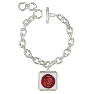 1st-Root Chakra Rot-Spirale Gewebe-Farbe #2 Armband