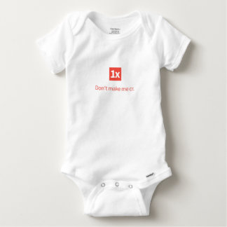 "1x Baby wear ""Don't make me cr."" Baby Strampler"