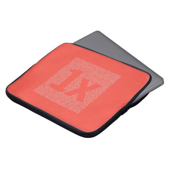 "1x ""drush"" notebook sleeve, orange laptopschutzhülle"