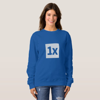 1x Women's sweatshirt with large 1x logo