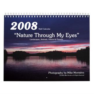 """2008 """"Natur durch meine Augen"""" Wandkalender"""