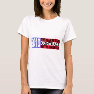 2010 das Jahr nahmen wir VERTRAG mit Amerika auf T-Shirt