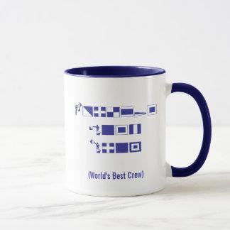 """2010 die beste Crew-"""" blaues Wasserregatta-Tasse Tasse"""