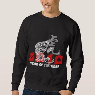 2010-jährig vom Tiger-Symbol-Schwarzen Sweatshirt