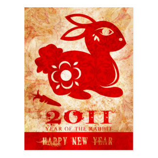 2011-jährig von der Kaninchen-Postkarte