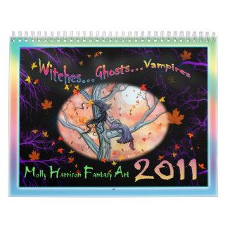2011 Kalender-Hexen, Geister, Vampire Kalender