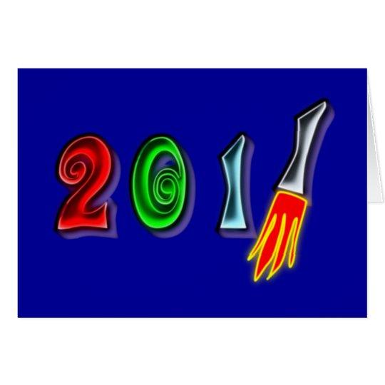 2011 Neujahr new Year Karte