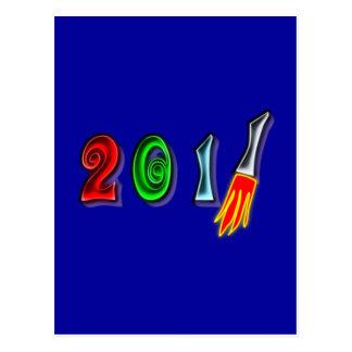 2011 Neujahr new Year Postkarte