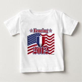 2012 fechtend baby t-shirt