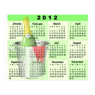 2012 Kalender - Champagne-Eimer-Druck Postkarte