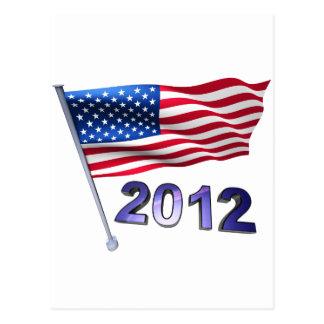 2012 mit USA-Flagge Postkarte