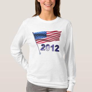 2012 mit USA-Flagge T-Shirt