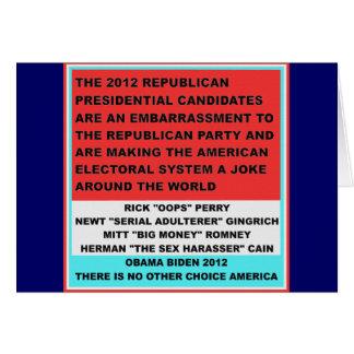 2012 republikanische Kandidaten sind eine Karte