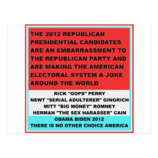 2012 republikanische Kandidaten sind eine Postkarte