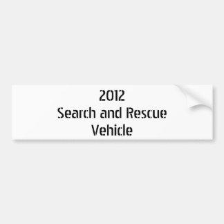 2012Search und RescueVehicle Autoaufkleber