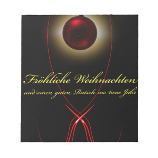 20141003-Licht und Energie Fröhliche Weihnachten Notizblock