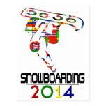 2014: Snowboarding Postkarte