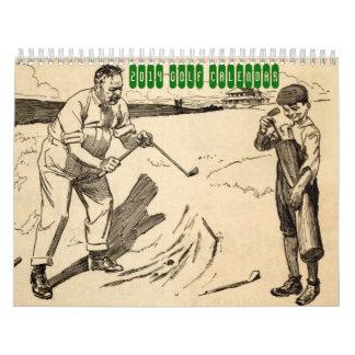 2014 Vintager Golf-Kalender Wandkalender