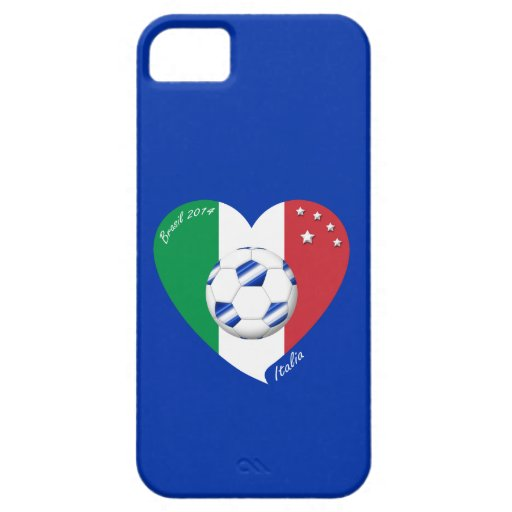 2014 weltweiter FUSSBALL von ITALIEN Flagge und bl Etui Fürs iPhone 5