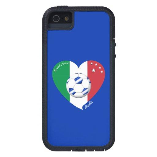 2014 weltweiter FUSSBALL von ITALIEN Flagge und bl iPhone 5 Schutzhüllen