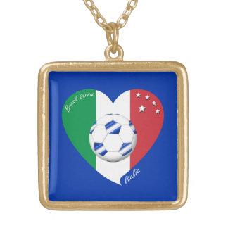2014 weltweiter FUSSBALL von ITALIEN Flagge und bl Amulett