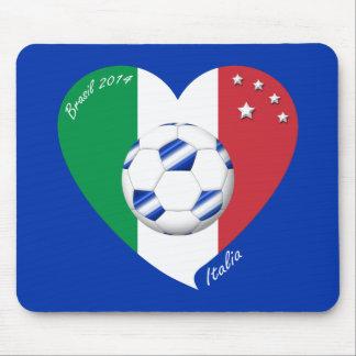 2014 weltweiter FUSSBALL von ITALIEN Flagge und bl Mousepads