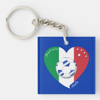 2014 weltweiter FUSSBALL von ITALIEN Flagge und bl Schlüsselring