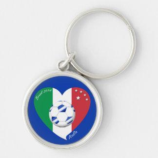 2014 weltweiter FUSSBALL von ITALIEN Flagge und bl Schlüsselband