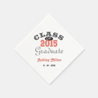2015 Abschluss-Party - Pfirsich Papierserviette