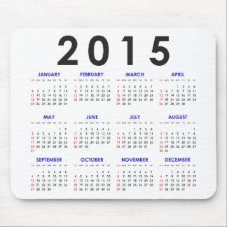 2015 Kalender-Mausunterlage Mousepad