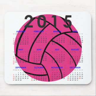 2015 Kalender-rosa Volleyball-Mausunterlage Mousepad