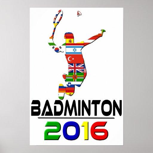 2016: Badminton Plakatdrucke