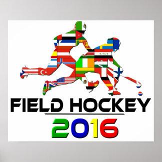 2016: Feld-Hockey Plakatdruck