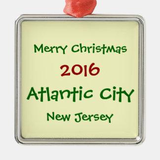 2016 KUNDENGERECHTE ATLANTIC CITY SILBERNES ORNAMENT