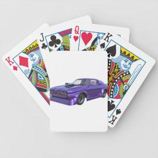 2016 lila Muskel-Auto Bicycle Spielkarten