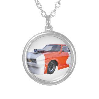 2016 orange und weißes Muskel-Auto Versilberte Kette