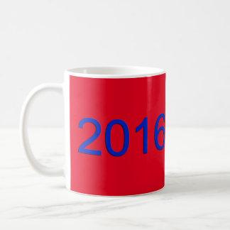 2016 rote, weiße u. blaue Tasse