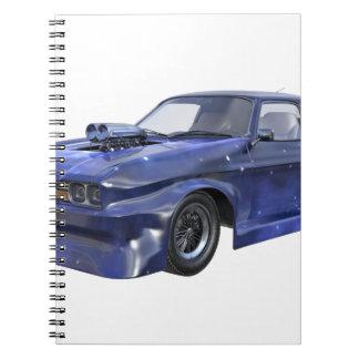 2016 Stern-blaues Muskel-Auto Notizblock