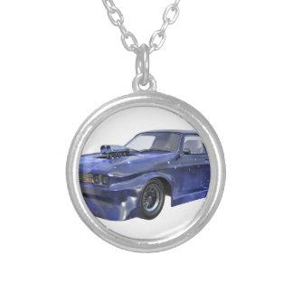 2016 Stern-blaues Muskel-Auto Versilberte Kette