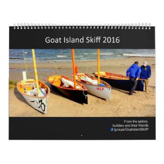 2016 Ziegen-Inselskiff-Kalender - 2017 Daten Kalender