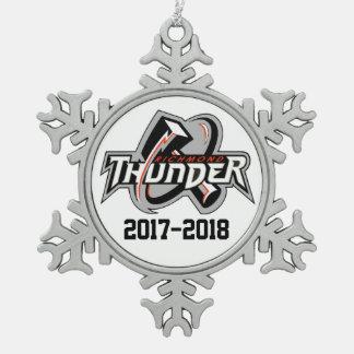 2017-2018 Donner-Verzierung Schneeflocken Zinn-Ornament