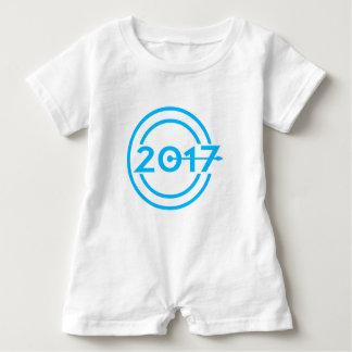 2017 Blau-Datums-Uhr Baby Strampler