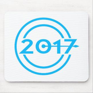 2017 Blau-Datums-Uhr Mousepad