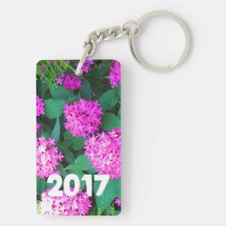 2017 Blumenkeychains Blumen des GLÜCKLICHEN NEUEN Schlüsselanhänger